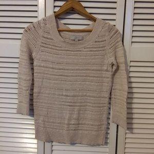 LOFT Lightweight Cream Sweater